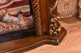 セリウム公認LEDの軽いホーム家具のブラウンの電気暖炉