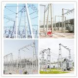 高品質によって電流を通される電気分布タワー