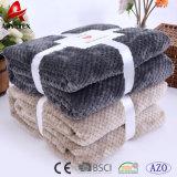 卸し売り高品質の平野カラーワッフルのプラシ天の珊瑚の羊毛毛布