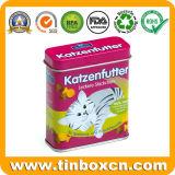 De rechthoekige Doos van het Tin van het Voedsel voor huisdieren voor de Verpakking van de Koekjes van de Kat