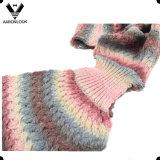 Espaço colorido lenço feito malha fio tingido da forma da sereia da forma do teste padrão 2017