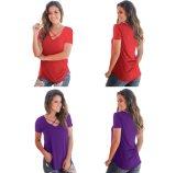 Moda OEM senhoras raparigas Mulher Vasity Nyc T Shirt de algodão