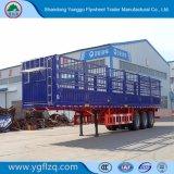 50ton 3axles 강철 및 반 알루미늄 말뚝 또는 담 또는 화물 트럭 트레일러