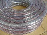 El PVC transparente flexible de alambre de acero