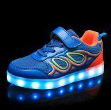 Новый стиль зарядка через USB детей под руководством обувь