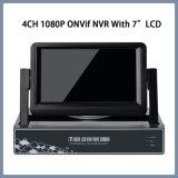 4CH 1080P P2P NVR Onvif com LCD de 7 polegadas