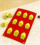 Le mini feston de silicones a formé 9 mini moulages de chocolat de moulages de traitement au four de biscuit de silicones de sûreté de moulage de gâteau de trous