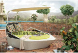 Outdoor /Rattan/Garden/Patio Furniture Rattan Lounge Flesh with Tent (HS 1707CL)