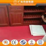 Governo di alluminio di profilo con varietà di grano di legno