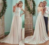 Кружевной свадебные платье шампанское тюль устраивающих свадебные платья Sp34