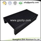 Dissipatore di calore di alluminio alettato T6 del nero 6063 della fabbrica