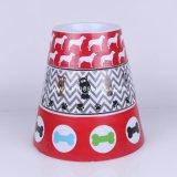 Großhandelshaustier-Produkt-Zubehör-Melamin-Katze-Hundefilterglocke mit Hübsch-Drucken