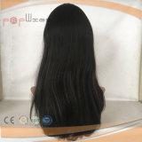 Parrucca piena brasiliana delle donne del merletto del nero di getto dei capelli (PPG-l-0062)