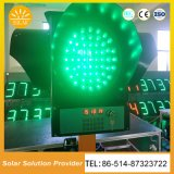 Feux de signalisation solaires économiseurs d'énergie approuvés de signaux lumineux de RoHS de la CE IP55