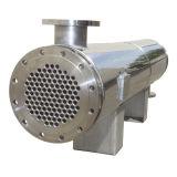 多重管の熱交換器が付いている円柱シェル