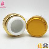 Tarro poner crema de aluminio de plata con servicio del OEM