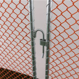 PVC上塗を施してあるチェーン・リンクの群集整理の障壁の塀
