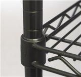 頑丈で黒いコマーシャル6層の棚調節可能なNSFの鋼線の金属の棚付けラック