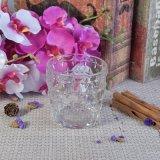 300ml de Houders van de Kaars van het glas met Spijker In reliëf gemaakt Patroon