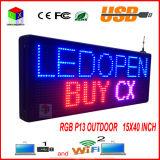 """P13 15 table des messages programmable polychrome extérieure de défilement des textes de signe de '' x 40 """" DEL"""