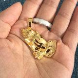 Hip Hopの宝石類の祈り手の吊り下げ式の銀925