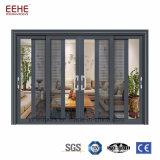 Grandes portas de vidro de deslizamento comerciais, branco que desliza as portas de alumínio do pátio