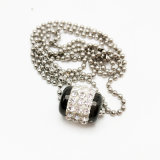 스테인리스 형식 보석 여자 다이아몬드 둥근 목걸이
