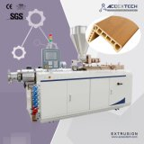 Plastic PE pp WPC van pvc Houten Plastic Samengesteld Venster/Decking/Plafond/Plint/Beton/de Uitdrijving die van het Profiel van de Bouw Extruder maken die de Machine van de Productie uitdrijven