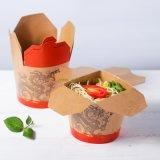 Brown Kraft Caja de fideos comida Contenedor de papel