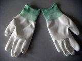 Cleanroom de qualité fonctionnant le gant en nylon enduit d'unité centrale