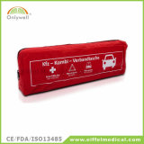 Erste-Hilfe-Ausrüstung mit Dreieck-WARNING-und Sicherheits-Weste