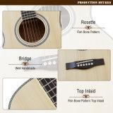 Guitarra acústica da sala de estar da sala de estar superior contínua da alta qualidade de Aiersi