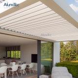 Gazebo extérieur en aluminium de toit à télécommande d'auvent