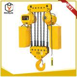 élévateur 380V à chaînes électrique de 10t 5m avec le certificat d'essai
