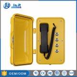 Telefone da emergência do monofone da liga de alumínio da tecla de VoIP três