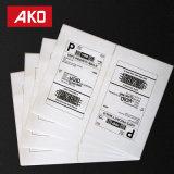 Forte d'Adhésif Permanent Hot melt papier thermique autocollants 2 étiquettes par feuille de la logistique des étiquettes