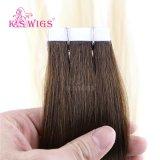7A等級のブラジルの毛のバージンの人間の毛髪のRemyテープ毛の拡張