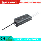 fonte de alimentação Htl do interruptor do transformador AC/DC do diodo emissor de luz de 12V 6A 80W