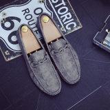 Великобританский мыжской крокодил 2017 обувает подошву управляя ботинок кожаный ботинок PU Metrosexual Doug ленивую резиновый