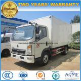 HOWO camiones refrigerados 4X2 de 5 toneladas de alimentos Actualizar carretilla
