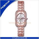 Het beste Verkopende OEM Zwitserse Horloge van de Juwelen van de Dames van het Roestvrij staal