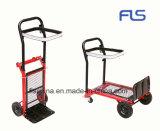 De het multifunctionele Karretje/Vrachtwagen van de Hand van het Aluminium met Vier Wielen