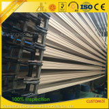 Profils en aluminium anodisés de guichet de glissement et de piste de porte