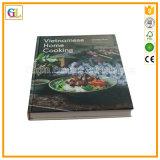 Service d'impression polychrome de livre de cuisinier d'obligatoire de cas