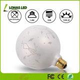 Blanco caliente decorativo 2700K E26 de la bombilla del globo LED de G125 no Dimmable para la fiesta de Navidad del día de fiesta