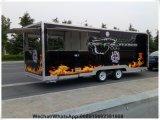 O Vending móvel da rua da barra de suco da salada Carts o carro do vendedor