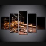 HD het afgedrukte het Schilderen van de Sigaar van de Niet-mousserende wijn Canvas van het Beeld van de Affiche van het Af:drukken van het Decor van de Zaal van het Af:drukken van het Canvas