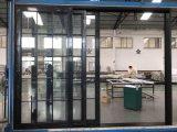 Diseño de aluminio de la parrilla de la puerta deslizante de la doble vidriera del perfil