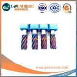 2,0X6X50HRC carboneto45-68 3, 4, 6 miolo moinhos de extremidade plana