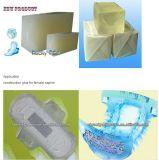 Bon marché De la colle adhésif colle élastique pour des serviettes hygiéniques de décisions